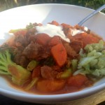Beef stew & veggies