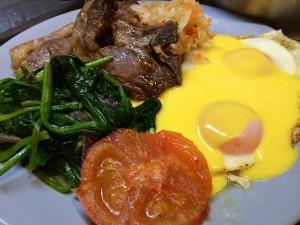 Lamb Chops, Eggs & Hollandaise