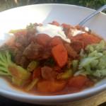 Beef stew & veggies