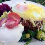 Egg Topped Bolognaise