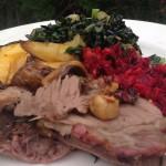 Left over roast & veggies